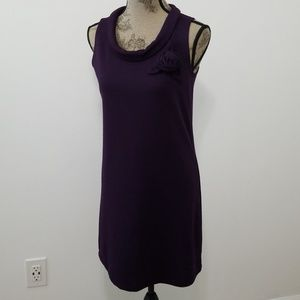 Alyn Paige purle  shift dress cowl neck w rose